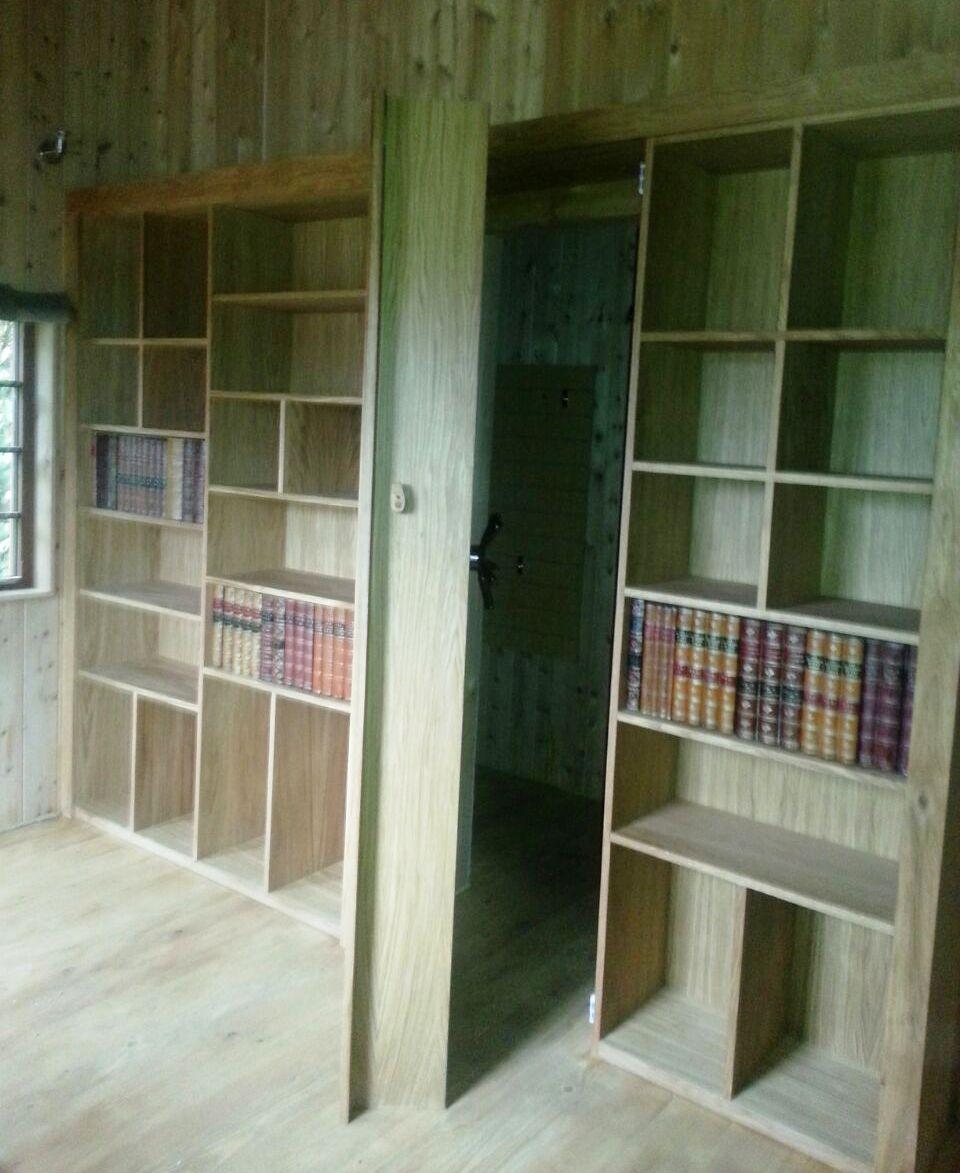 Bespoke bookcase with secret door