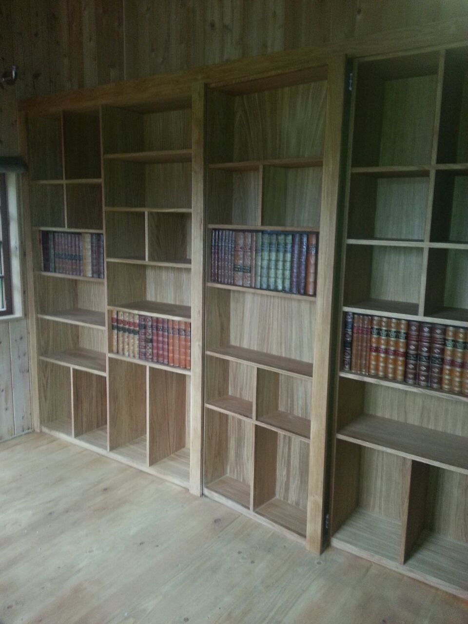 Bespoke bookcase with secret door.