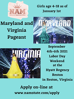 National American Miss Maryland and Virg