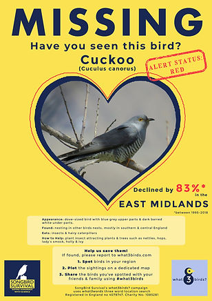 EAST MIDLANDS, Cuckoo, Missing Poster, S