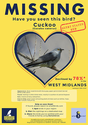 WEST MIDLANDS, Cuckoo, Missing Poster, S