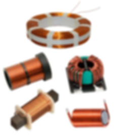 Electric Coils, Induction coil, motor coil, generator coil, transformer coil, voice coil, toroid coil, magneto coil, electrical coil, electromagnet coil, brake coil, clutch coil