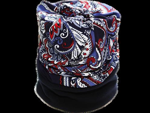 Convertible Headband Blue Paisley