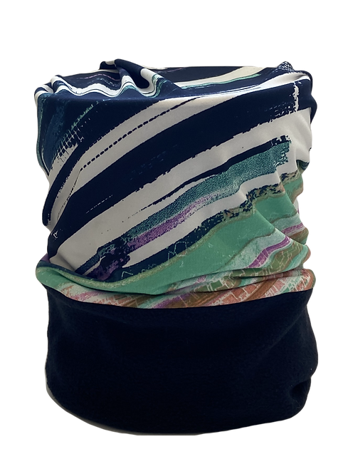 Convertible Headband Blue, White and Green