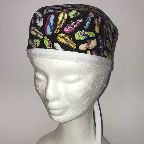 Scrub Cap Jandals with Black or White