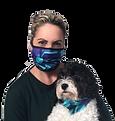 Jo and Daisy Pacific Jewel Face Mask and Matching Dog Bandana