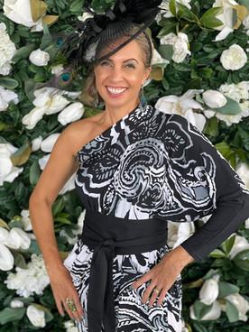 Butterfly Dress Black White Print