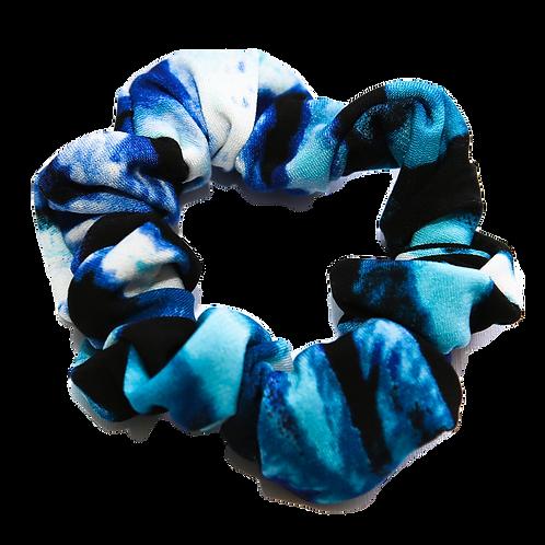 Aqua/Blue/Black Scrunchie