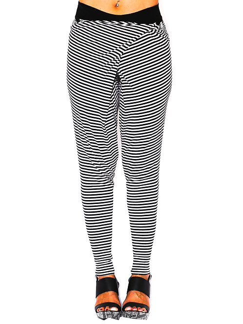 "JC Pants ""Stripy Jo's"" Black and White"