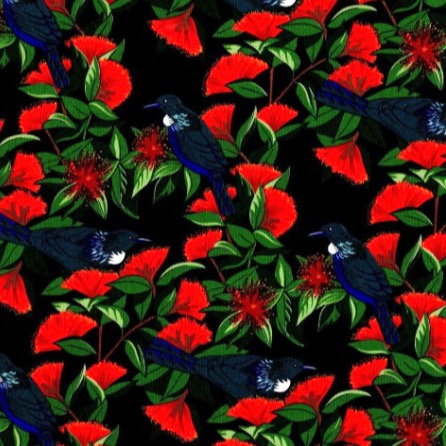JC Face Mask Tui Birds and Flowers