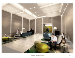 Interior Lobby Rendering ST architects