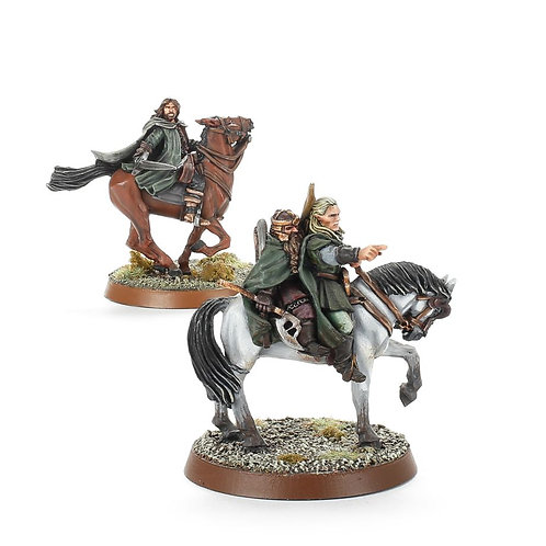 The Three Hunters Mounted