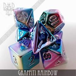 Graffiti Rainbow Dice Set