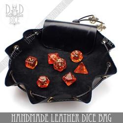 Handmade Leather Dice Bag