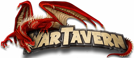 Logo War-Tavern avec un dragon rouge