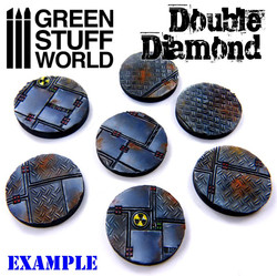 """Rouleau texturé """"Double Diamant"""""""