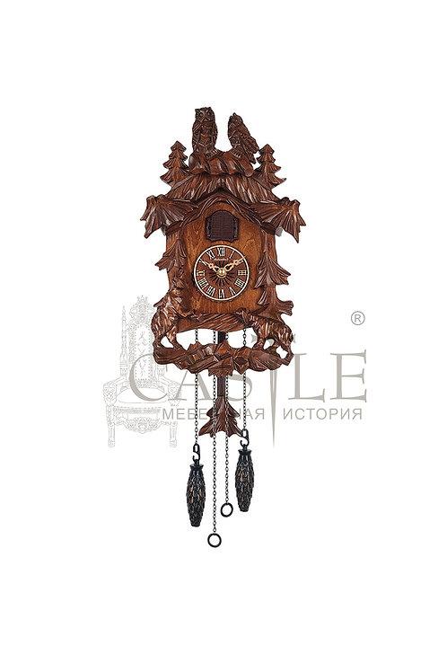 Часы настенные с кукушкой «Мишки в лесу»