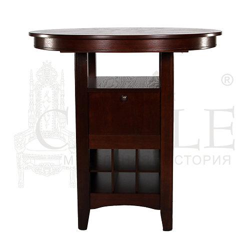n001978, MK-1106-HG, Стол MCPT - H4242 - SPB цвет: GR D.W#1 (Темный орех) - круглый барный стол, 107*107*108