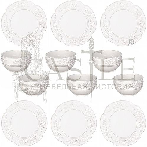 Набор посуды «Завиток» из 12 предметов MC08