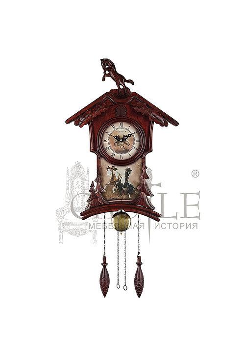 Часы настенные с кукушкой «Мустанг»