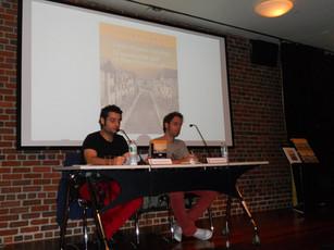En el Instituto Cervantes de Nueva York, con Julio Valdeón Blanco y la seriedad que antecede a la tormenta…