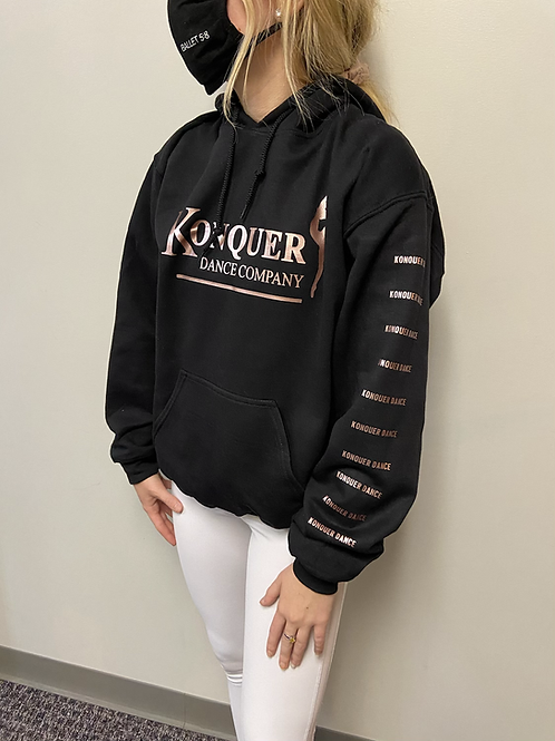 Konquer hoodie with logo sleeve