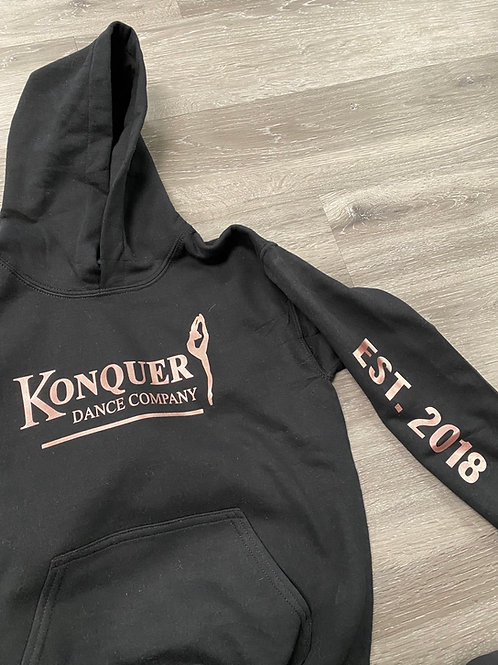Hoodie with EST 2018 down the sleeve
