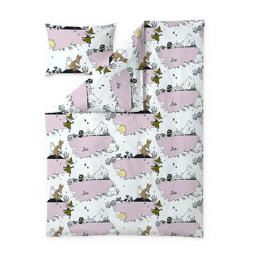 Комплект постельного белья Finlayson MOOMIN, розовый.