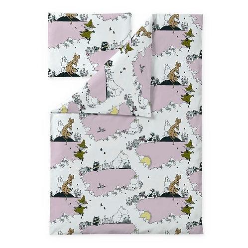 Детский комплект постельного белья Finlayson MOOMIN, розовый.