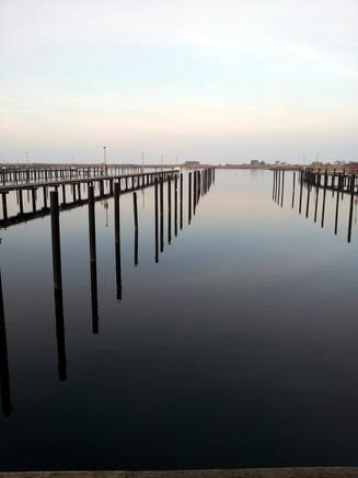 Der Yachthafen im Winter