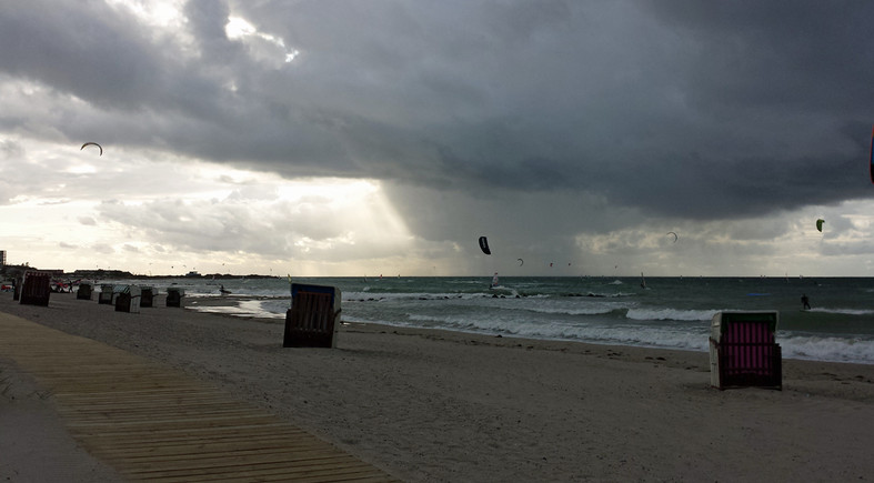 Strand bei Sturm