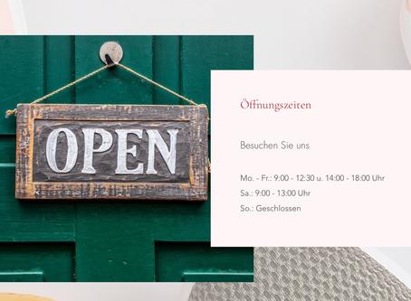 Wir öffnen 😀