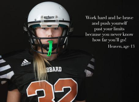 An All-American Girl:  Portrait of a Footballer