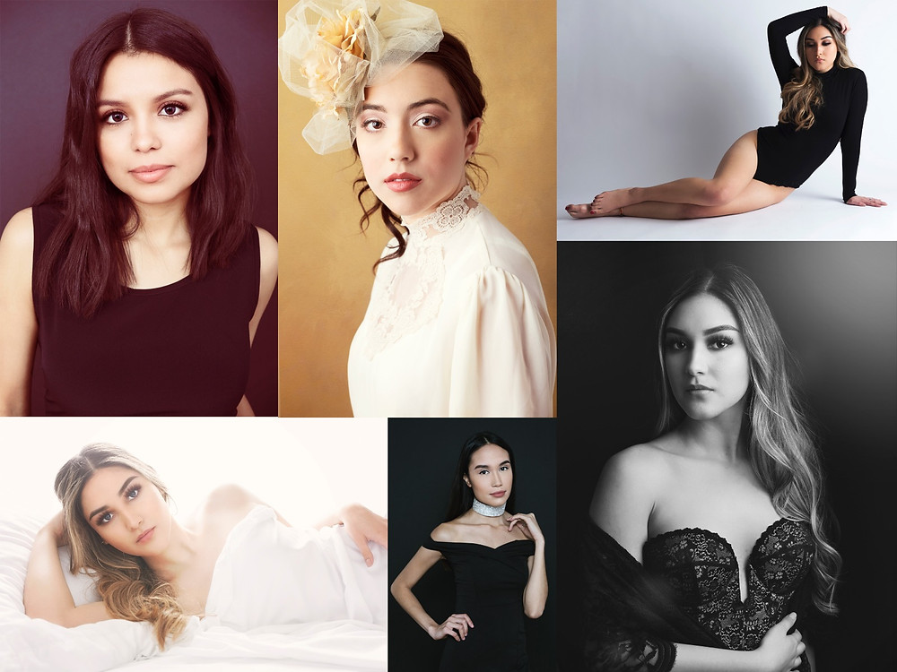 Collage of Glamour Portraits