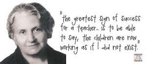 Maria Montessori quote followed at Bright Sparks montessori Frimley