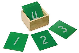 Montessori Sandpaper Numbers as used at Bright Sparks Montessori Frimley