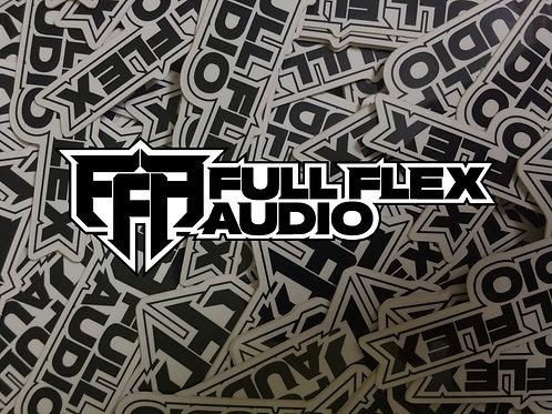Full Flex Audio Die-Cut Sticker (Updated Logo)