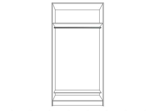 Single hanging bar with shoe shelf