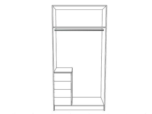 Single hanging bar, bottom locker L