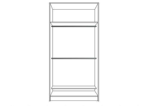 Double hanging bar with shoe shelf