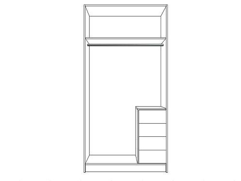 Single hanging bar, bottom locker R