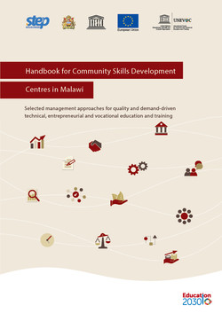 Handbook for Community Skills Development Centers in Malawi