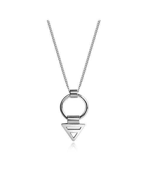 Trikona Mini Hoop Necklace