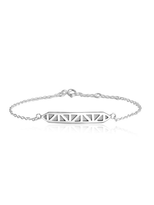 bar bracelet made with eco silver