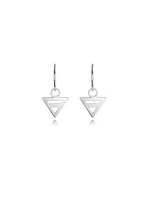 eco sliver triangle earrings