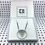 Silver Enso Maxi necklace in branded box