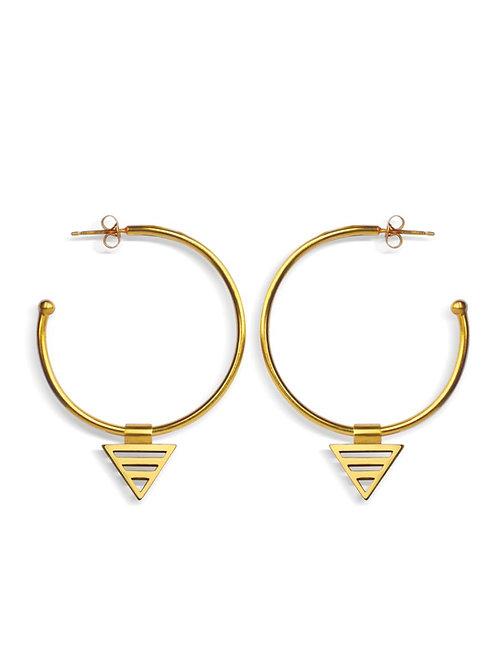 eco hoop earrings