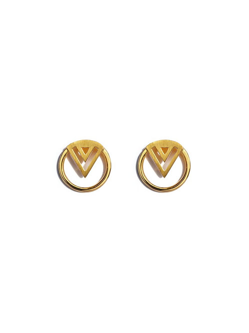 small gold studs made in Devon