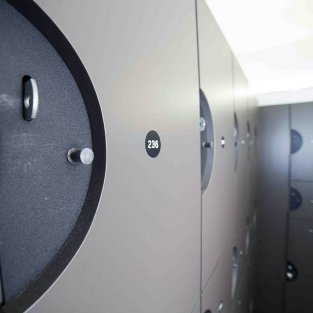Lockers at HHF