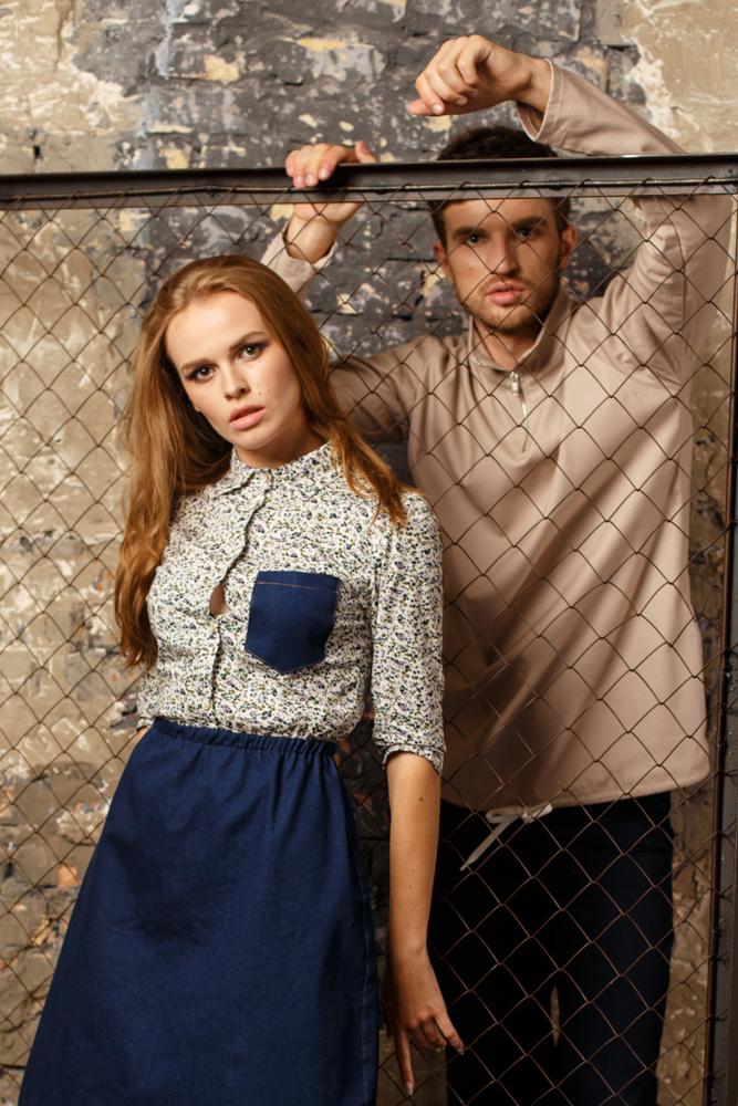 платье и коттоновый свитшот